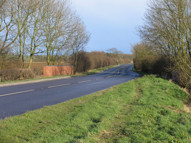 Road bridge over Burton Brook