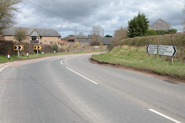 B4348 through Kivernoll