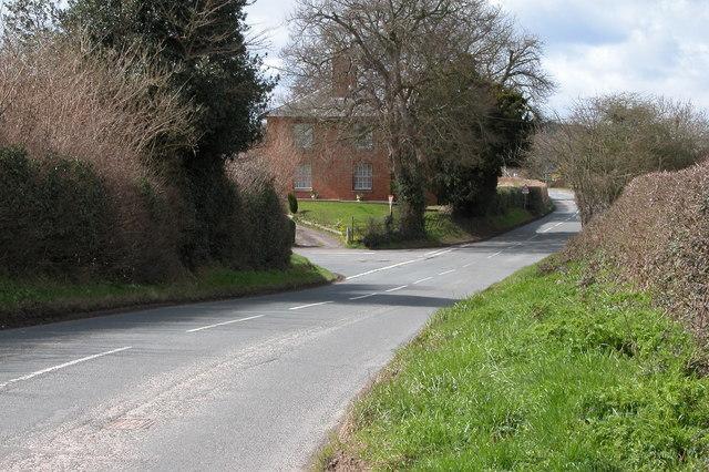 The B4349 at Kingstone