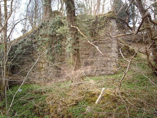 Remains of railway viaduct in Shielhill Glen