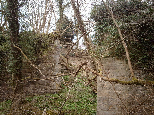 Remains of railway viaduct in Shielhill Glen