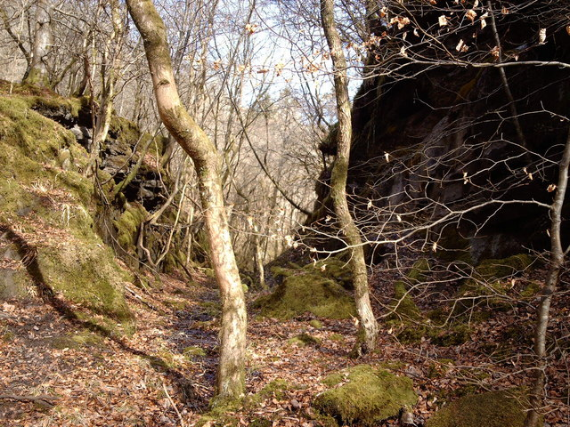 Former railway trackbed in Shielhill Glen