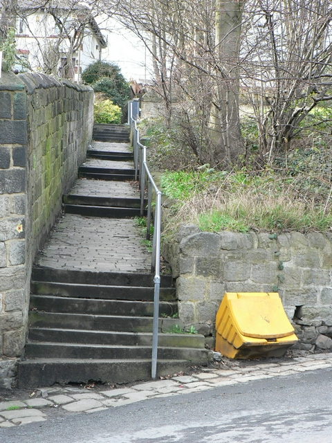 Path from Newlay Lane to Newlaithes Gardens.