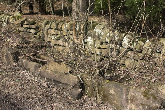 Old stone water troughs by Hartoft Bridge