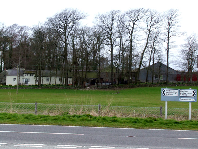 A Farm  Alongside the A4080 near to Dwyran