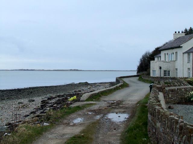 House overlooking the Menai Strait