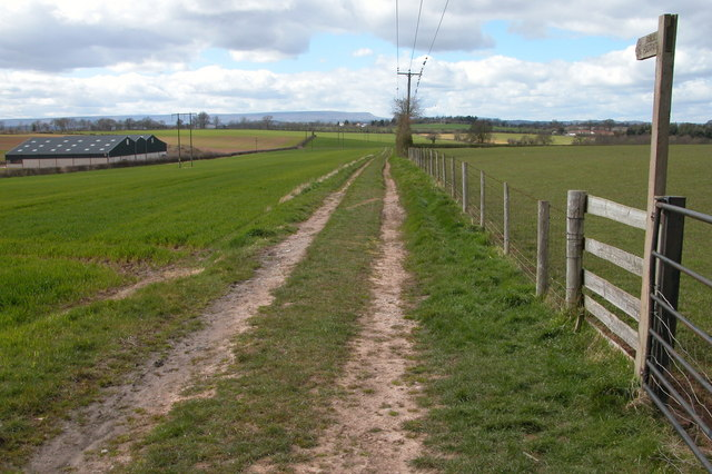 Footpath and track at Merry Hill