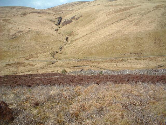 Linn Burn on the opposite hillside