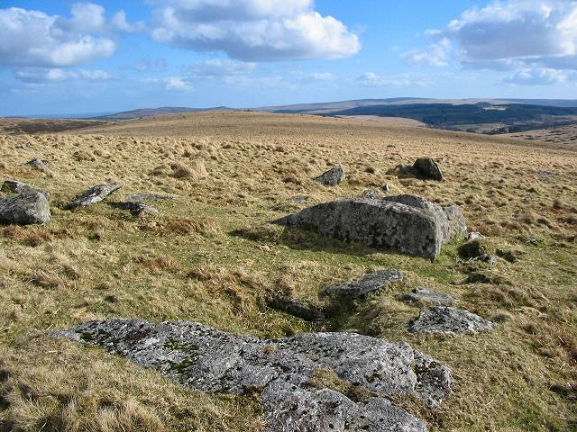 Cairn remains on White Ridge - Dartmoor