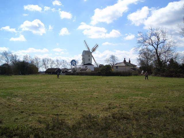 The green, and the windmill