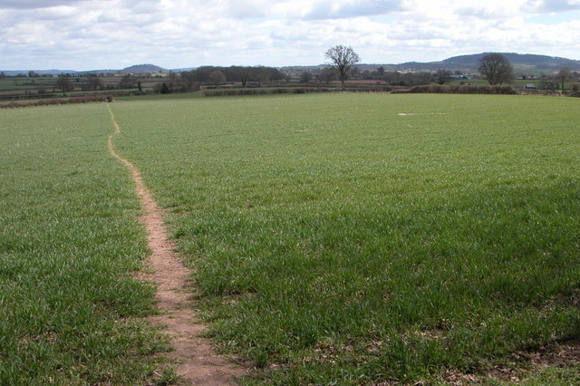 Footpath near Mawfield Farm