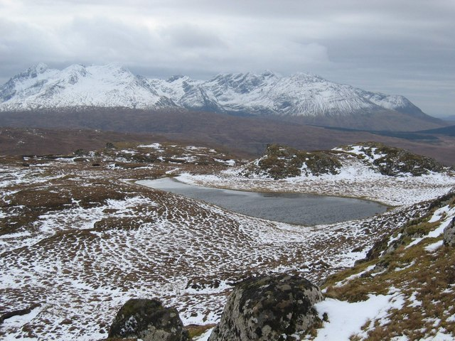 Lochan near Roineval Summit