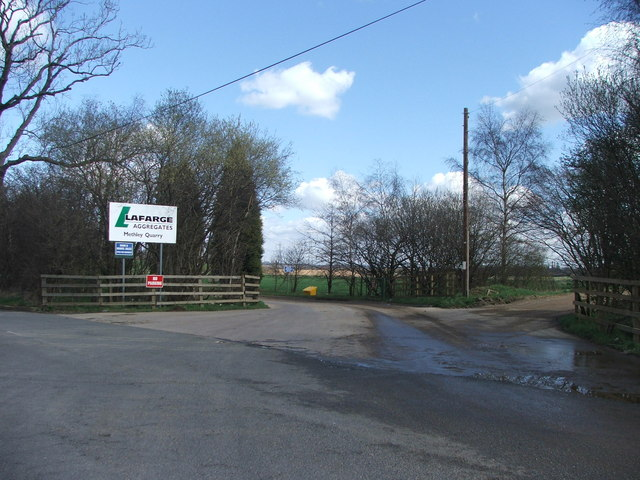 Entrance to Methley quarry.