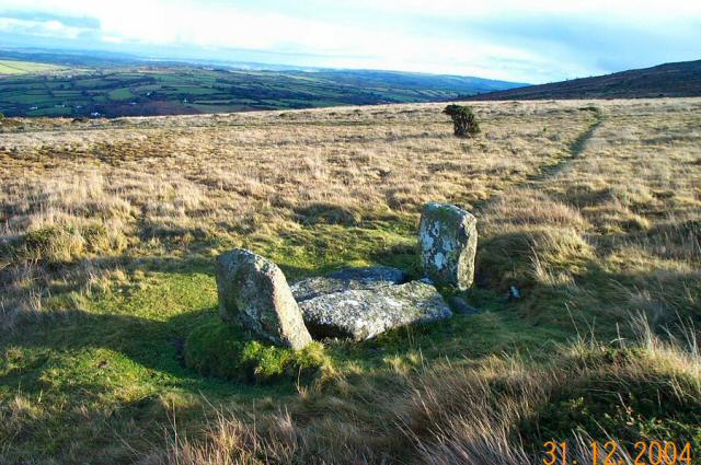 Monument to a stone circle - Dartmoor