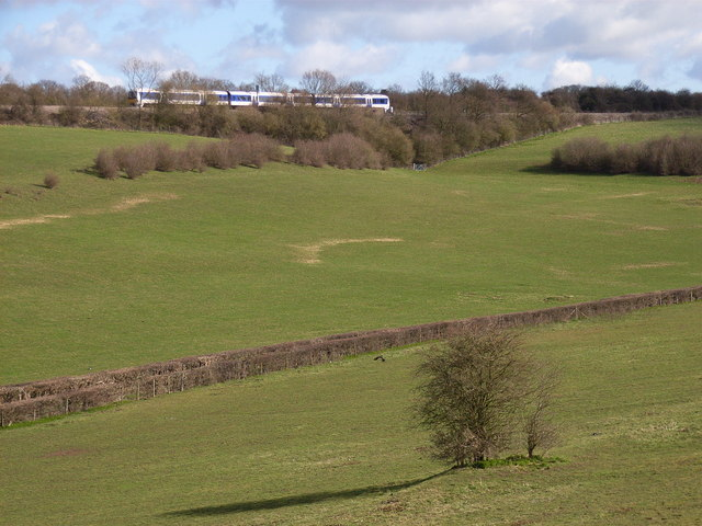 Railway above Holtspur Bottom