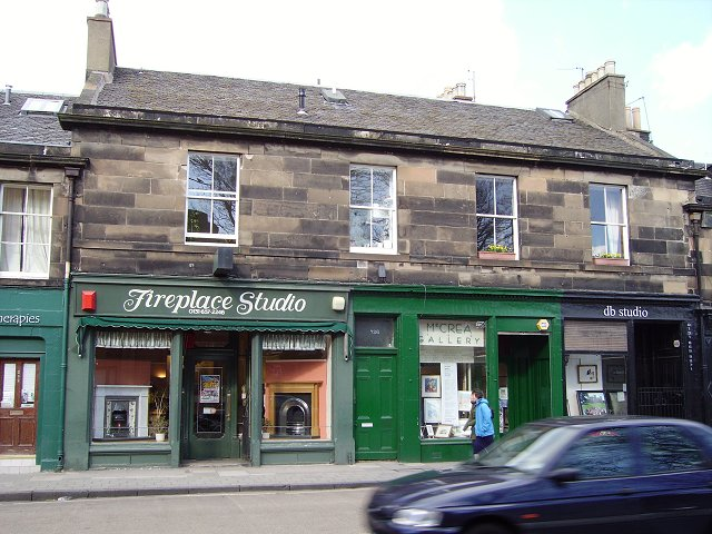 Shops and flats, Portobello High Street.