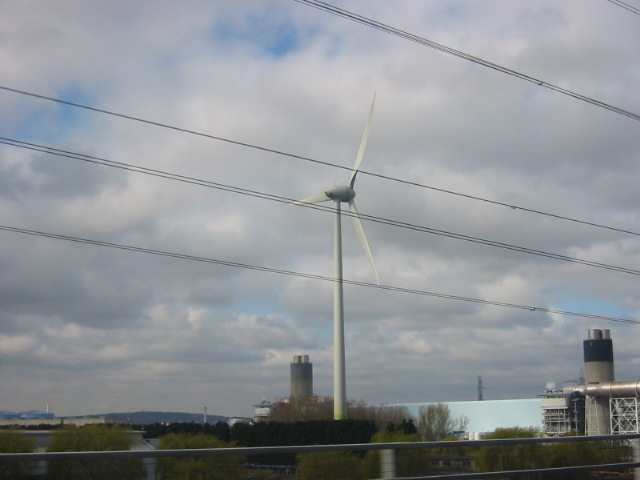 Wind generator at Ford Motors Dagenham.