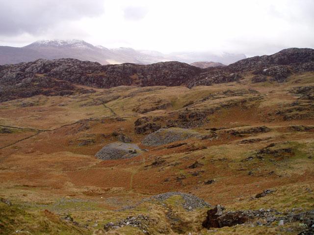 Disused slate quarry below Cnicht