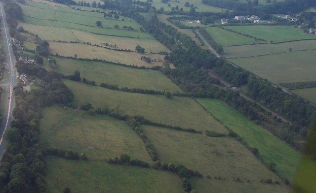 Stretton Hillside - Aerial Photo