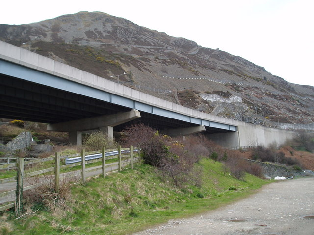 Bridge carrying the A55 looking west