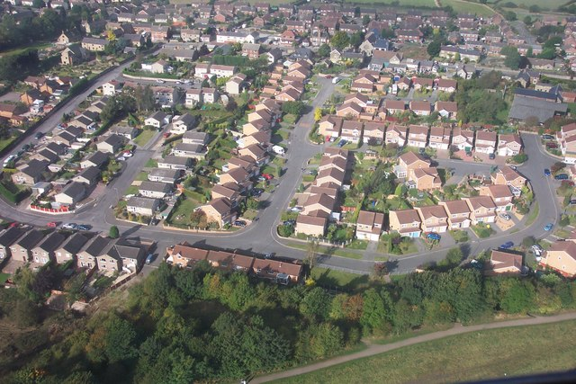 Estate Housing, Tibshelf - Aerial Photo