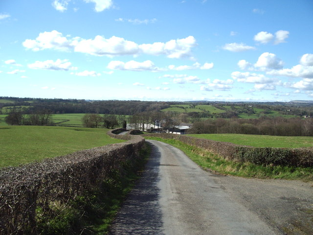 The road to Sunderland Hall Farm