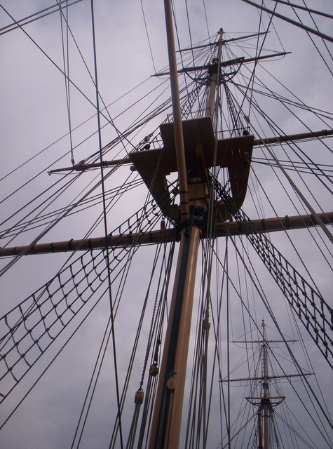 HMS Gannet rigging at Chatham Historic Dockyard