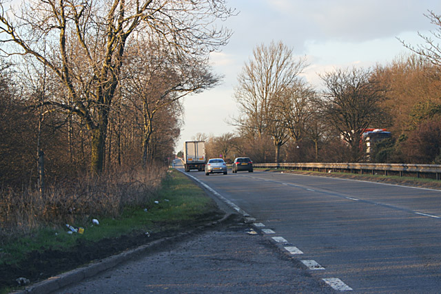 A46 Fosse Way near Six Hills, Leicestershire