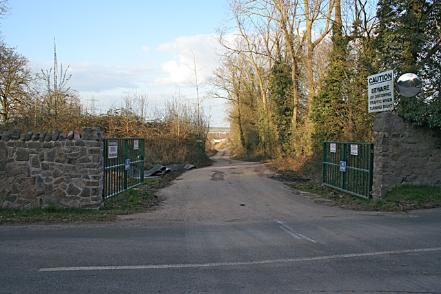 Entrance to Industrial Estate near Quorn