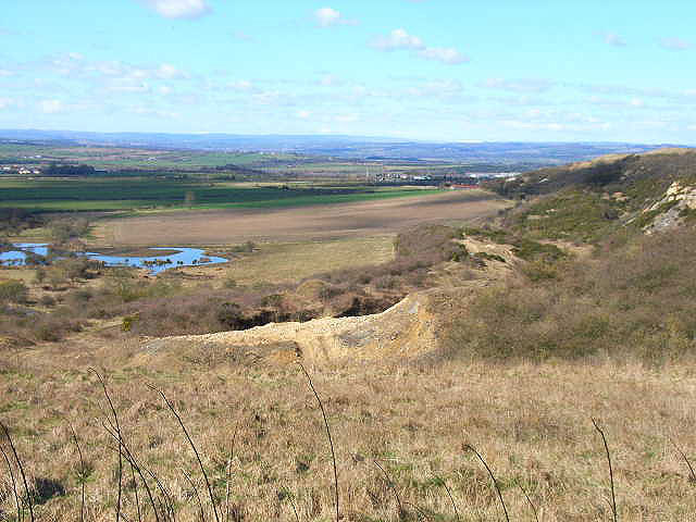 Old quarry viewed from Quarrington Hill