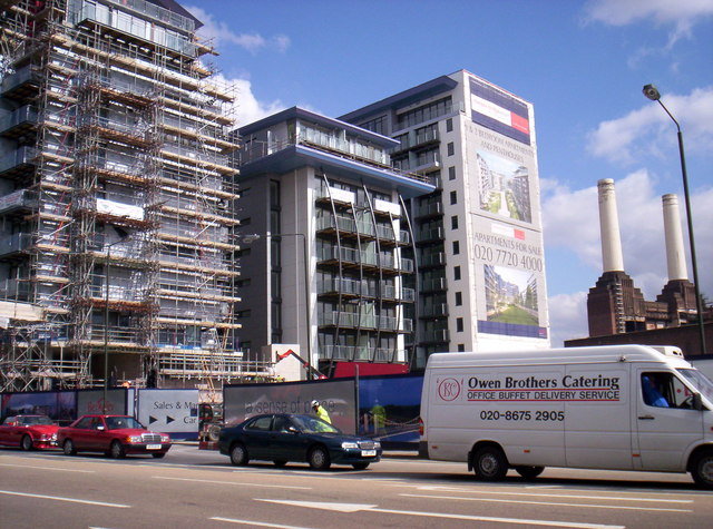 Luxury Apartments and Derelict Battersea Power Station