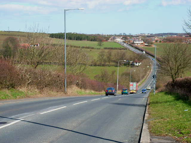 Switchback road at Trimdon