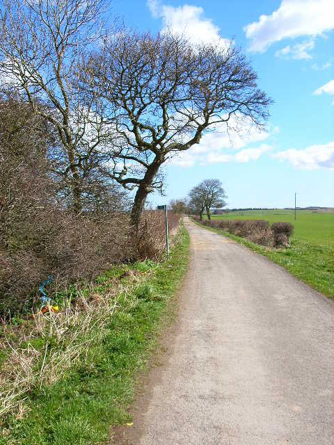 Farm road and bridleway to Humble Knowle Farm, Fishburn