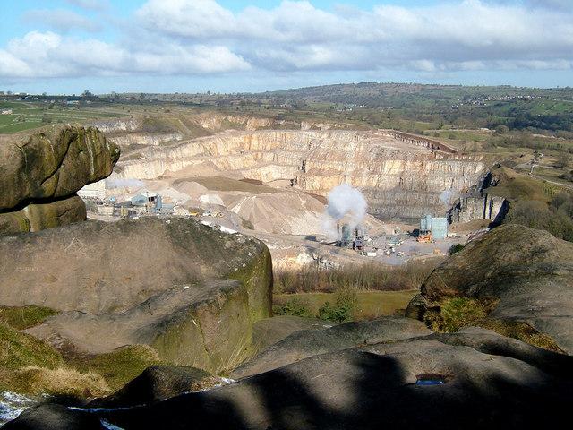 Dene Quarry Cromford from Black Rock