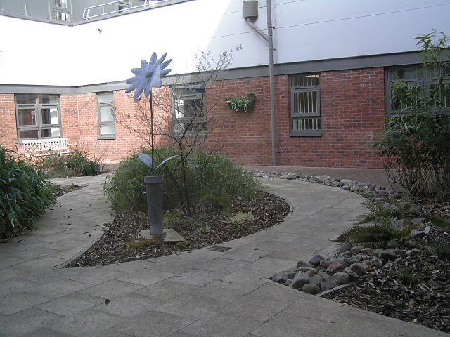 Courtyard at James Cook University Hospital