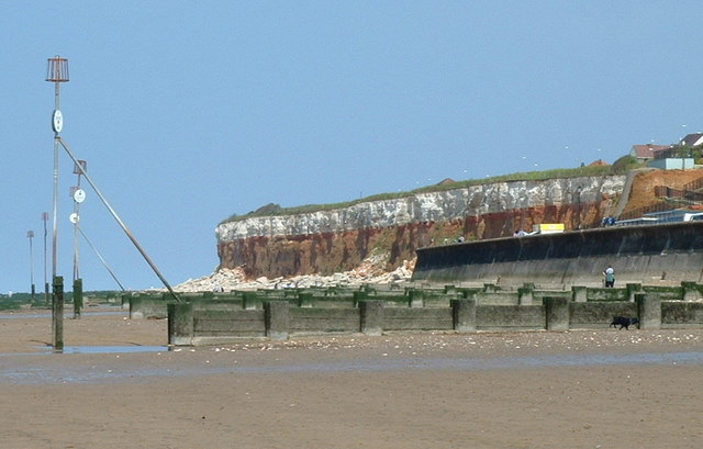 Groynes protecting the beach at Hunstanton.