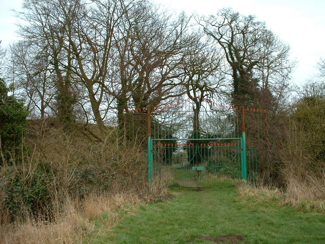 Gateway to the castle at New Buckenham, Norfolk.