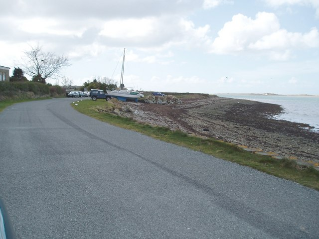 Slipway on the coastal road , Caernarfon to Foryd Bay
