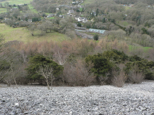 Looking down on Mill Side