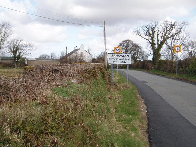 South west of Llanfaglan