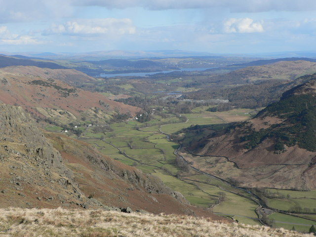 Great Langdale from Stickle Tarn