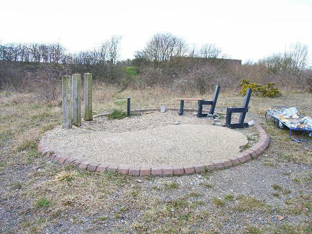 Vandalised picnic site, Shotton Colliery