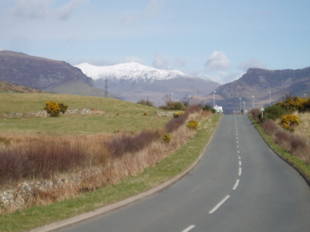 View of Snowdon from near  Penygroes