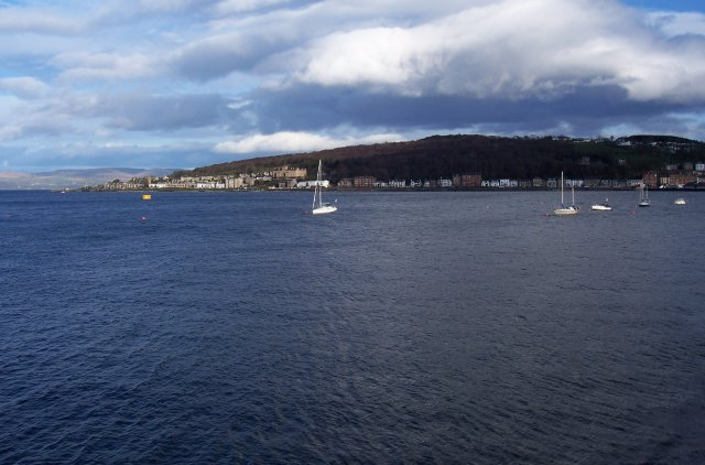 Rothesay in daylight.