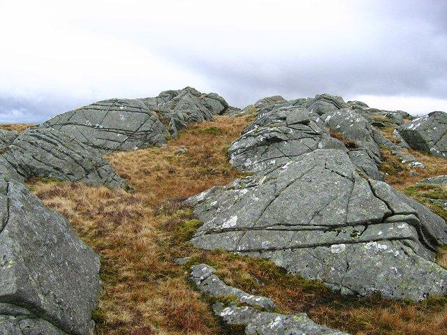 Rock ridges, Beinn Ghlas.