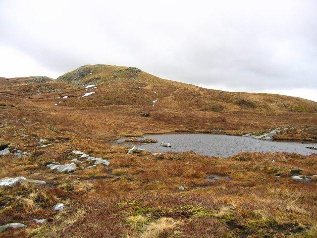 Lochan on Beinn Ghlas