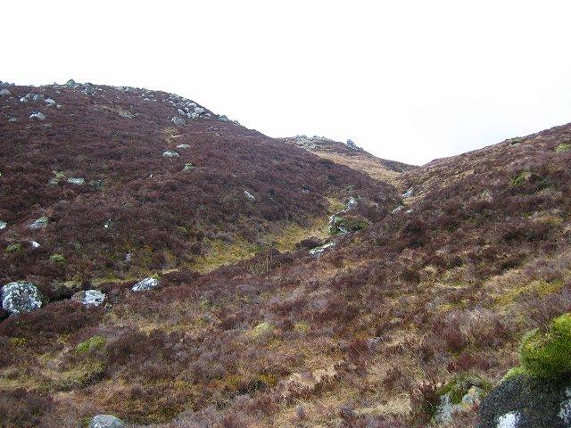 Burn on the upper slopes of Beinn Ghlas.