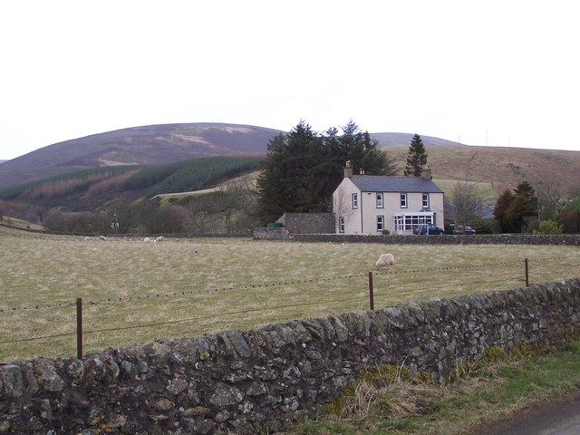 Looking north to the house of Afflochie with Craig of Trusta in the background.