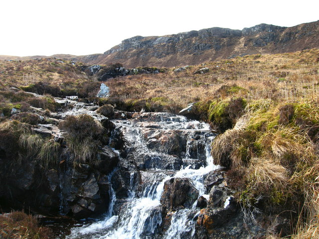 Burn crossing the Kinloch to Dibidil track
