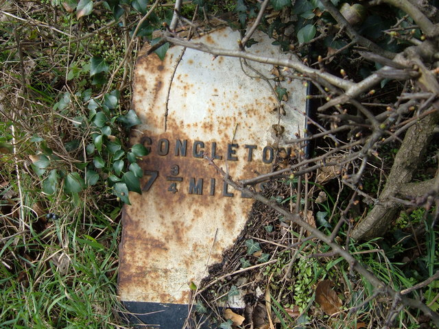 Toppled Milestone, Bagbrook Bridge